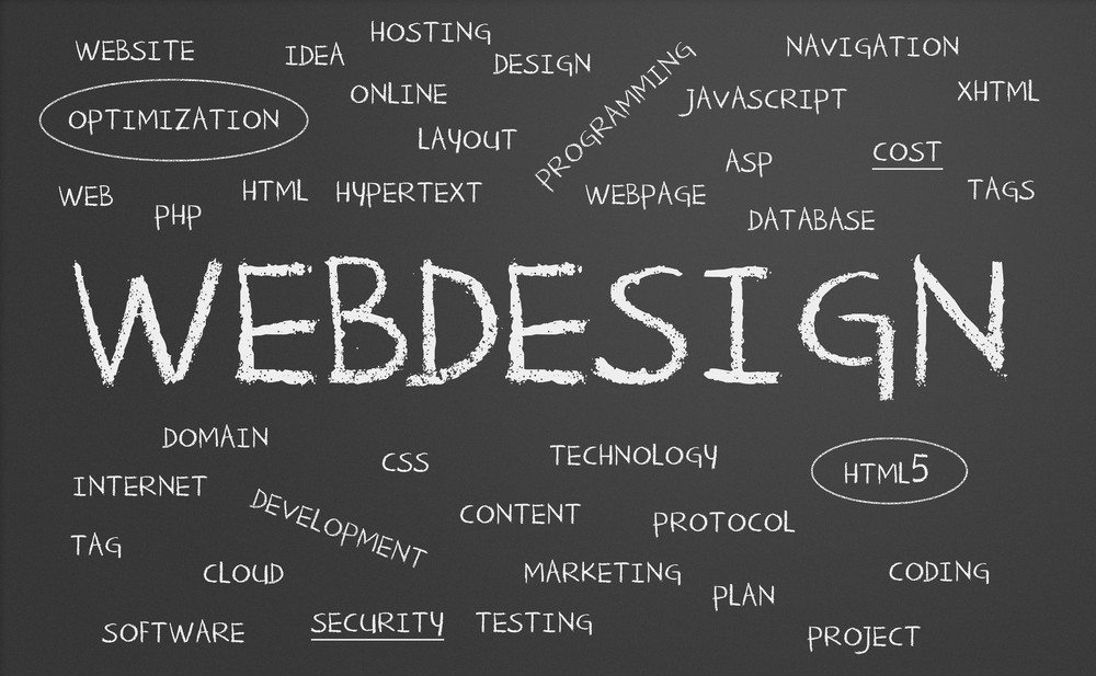 web-design-chalkboard Sussex Web development
